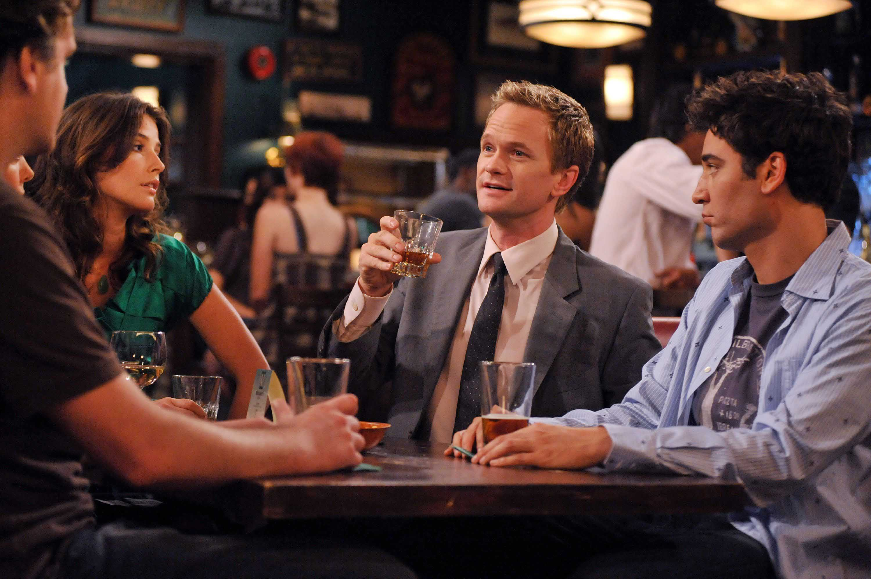 """Do I Know You"" -- As Stella responds to Ted's (Josh Radnor) proposal, Barney (Neil Patrick Harris) realizes that he's in love with Robin (Cobie Smulders), on the fourth season premiere of HOW I MET YOUR MOTHER, Monday, Sept. 22 (8:30-9:00 PM, ET/PT) on the CBS Television Network. Photo: Eric McCandless/FOX ©2008 Fox Television. All Rights Reserved."